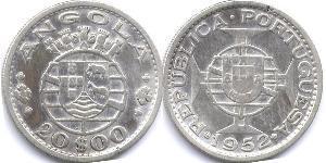 20 Escudo Portugal / Portuguese Angola (1575-1975) Argent