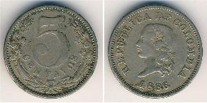 5 Centavo Republic of Colombia (1886 - ) Copper/Nickel