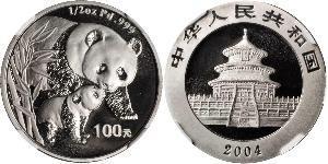 100 Yuan República Popular China Palladium