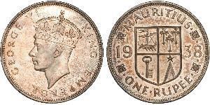 1 Rupee Mauritius Argento Giorgio VI (1895-1952)