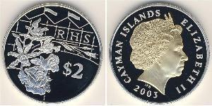 2 Dollaro Isole Cayman Argento
