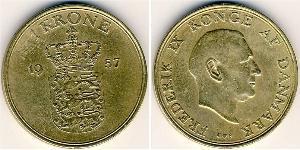 1 Krone Danemark Aluminium-Bronze