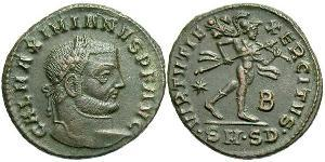 1 Follis Empire romain (27BC-395) Bronze Maximien Galère (260-311)