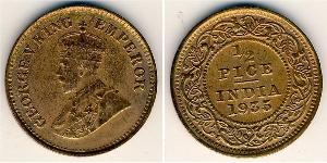 1/2 Paisa Raj Britannico (1858-1947) Bronzo Giorgio V (1865-1936)