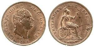 1/3 Farthing Regno Unito di Gran Bretagna e Irlanda (1801-1922) Rame Guglielmo IV (1765-1837)