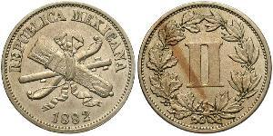 2 Centavo United Mexican States (1867 - ) Copper/Nickel