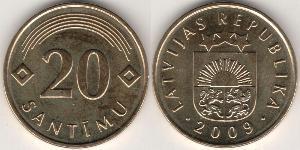 20 Centime Latvia (1991 - )