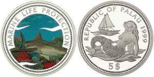 5 Dollar Palau Silber