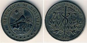 20 Centavo Bolivia (1825 - ) Zinc
