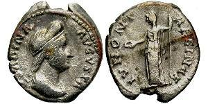 1 Denier Empire romain (27BC-395) Argent Vibia Sabina (83-137)