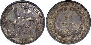 50 Cent Indochina francesa (1887-1954) Plata/Níquel-Bronce