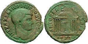 1 Follis Weströmisches Reich (285-476) Bronze Maxentius (278-312)