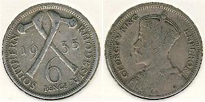 6 Penny Southern Rhodesia (1923-1980) Argent