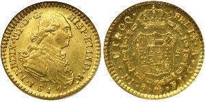 1 Escudo Chile Gold Ferdinand VII of Spain (1784-1833)