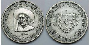 20 Escudo Estado Novo (Portugal) (1933 - 1974) Silber
