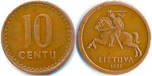 10 Cent Lituania (1991 - ) Copper-Tin-Zinc