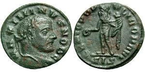 Follis Empire romain (27BC-395) Bronze Maximin II (270 - 313)