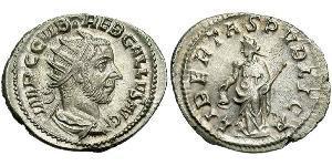 1 Antoninien Empire romain (27BC-395) Argent Trébonien Galle (206-253)