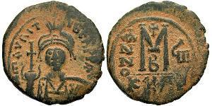 1 Follis Byzantinisches Reich (330-1453) Bronze Maurikios (539-602)