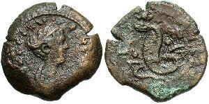 1 Obolo Impero romano (27BC-395) Bronzo Faustina II (130-175)