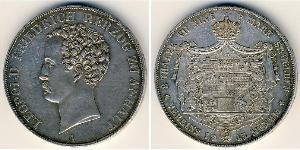 2 Thaler Duchy of Anhalt (1806 - 1918) Silver Leopold IV, Duke of Anhalt (1794 – 1871)