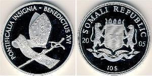 10 Dollar Somalia Silver