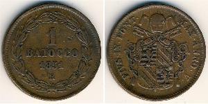 1 Baiocco Estados Pontificios (752-1870) Cobre