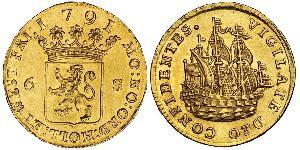 6 Stiver Dutch Republic (1581 - 1795) Gold