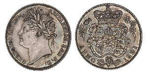 1 Sixpence / 6 Penny United Kingdom of Great Britain and Ireland (1801-1922) Silver George IV (1762-1830)