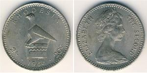 20 Цент / 2 Шиллинг Родезия (1965 - 1979) Медь/Никель