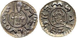 1 Dinar Bohême Argent Wratislaus II of Bohemia (?-1092)