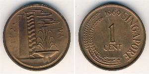 1 Cent Singapour Bronze