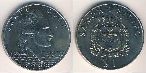 1 Tala Samoa Copper-Nickel James Cook