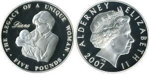 5 Pound Regno Unito (1922-) Biglione Argento