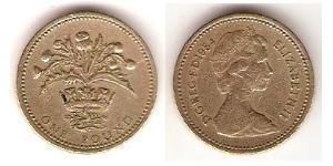 1 Pound United Kingdom (1922-) Copper/Tin/Zinc/Aluminium Elizabeth II (1926-)