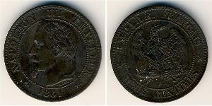 2 Centavo Second French Empire (1852-1870) Bronze Napoleon III (1808-1873)