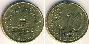 10 Eurocent Slovénie Laiton