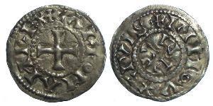 Dinar Kingdom of France (843-1791) Silver Carloman (751- 771)