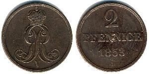 2 Pfennig States of Germany Cuivre