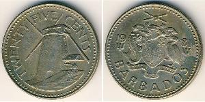 25 Cent Barbados Copper/Nickel