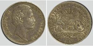 1 Taler Reino de Baviera (1806 - 1918) Plata Luis II de Baviera(1845 – 1886)