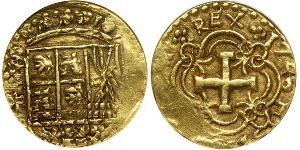 8 Escudo Viceroyalty of New Granada (1717 - 1819) Gold