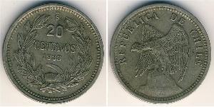 20 Centavo Chile Copper/Nickel