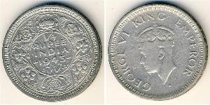 1/4 Rupee Raj Británico (1858-1947) Plata Jorge VI (1895-1952)