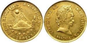 4 Escudo Plurinational State of Bolivia (1825 - ) Gold