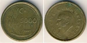5000 Lira Turkey (1923 - )