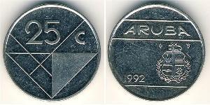 25 Cent Aruba Rame/Nichel
