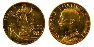 100 Lira Italia Oro Vittorio Emanuele III (1869 - 1947)