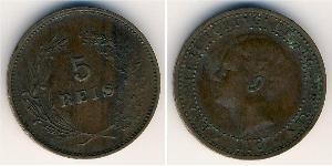 5 Reis Regno del Portogallo (1139-1910) Rame