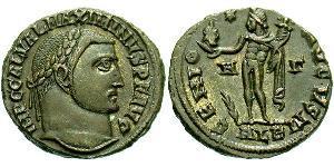 1 Follis Impero romano (27BC-395) Bronzo Massimino II (270 - 313)
